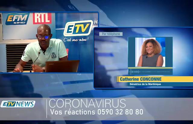 COVID19 - Interview de Catherine Conconne sur ETV