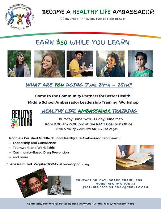 Youth Ambassador Community Partners for