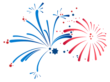 Red and Blue Fireworks