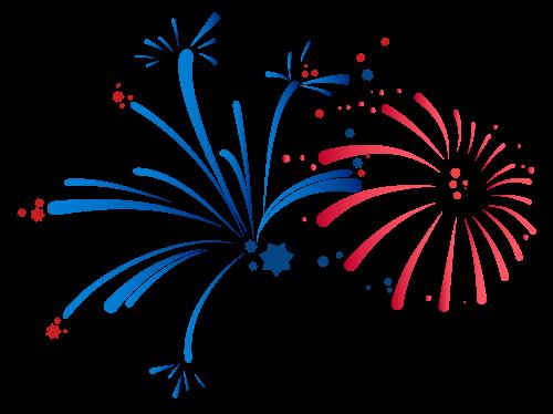 Rosso e blu Fuochi d'artificio