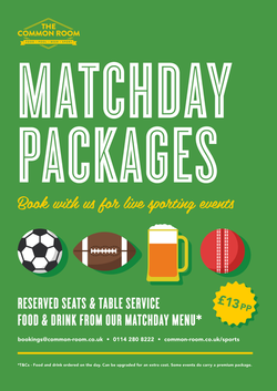 Matchday Packages | £13 per person