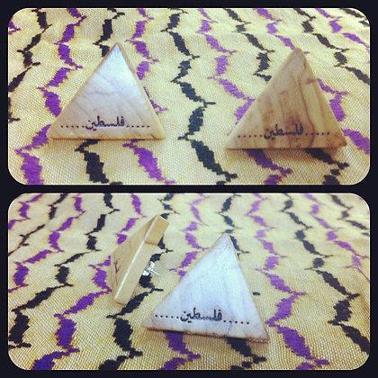 Palestine triangle bud earrings