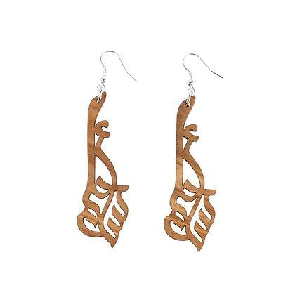 i will dream olivewood earrings