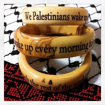 """""""We Palestinians"""" ~ Rafeef Ziadah bracelet"""