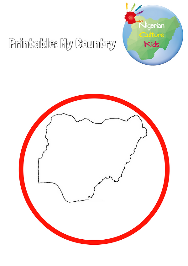 Me on the map: my country printable
