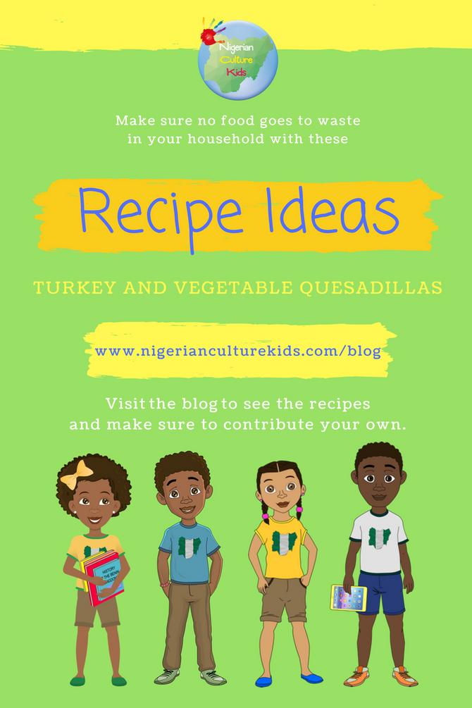 Recipe: Turkey and Vegetable Quesadillas
