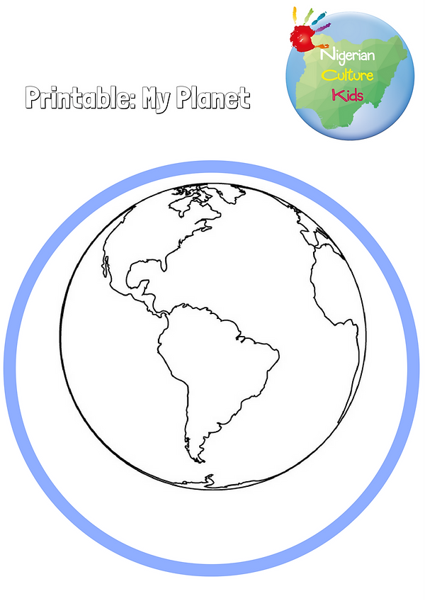 Me on the map: my planet printable