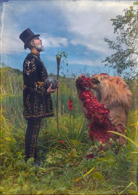 Oddfellow Fredo and the Lion, portrait by Nicholas Kahn