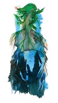 Pine Birds album cover - Water color by Miran Kim