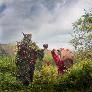 Fredo Viola, woodwose and the lion, portrait by Nicholas Kahn