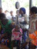 Medical students help at clinic, Tanzania