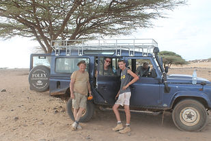 Land Rover in Marsabit, Kenya