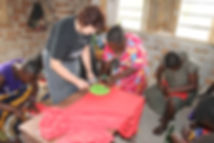 GP on career break teaching women, Tanzania