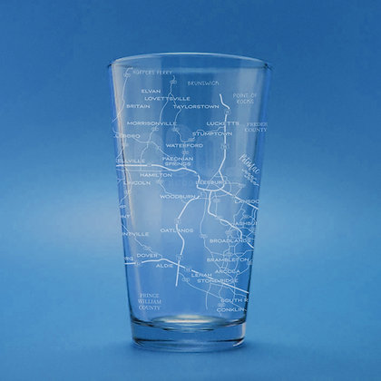 All Roads Lead to Loudoun - Set of  2 Pint Glasses