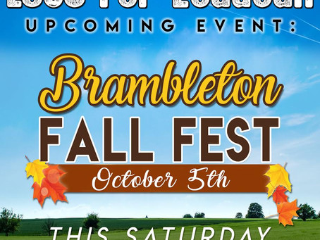 We'll Be @ Brambleton Fall Fest This Saturday!