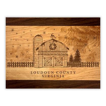 Holiday Barn Maple Cutting Board w/ Walnut Trim