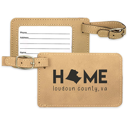 Home Leatherette Luggage Tag