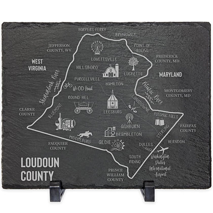 LoCo Map Slate Decor