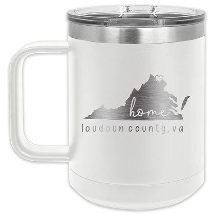 15oz VA State Insulated Mug