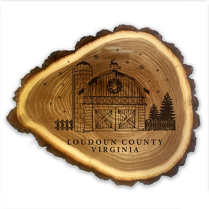 9in Holiday Barn Elmwood Trivet / Wall Decor