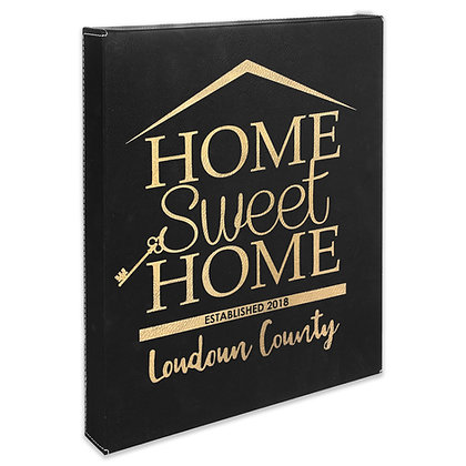 (Rectangle) Home Sweet Home - Leatherette Wall Canvas