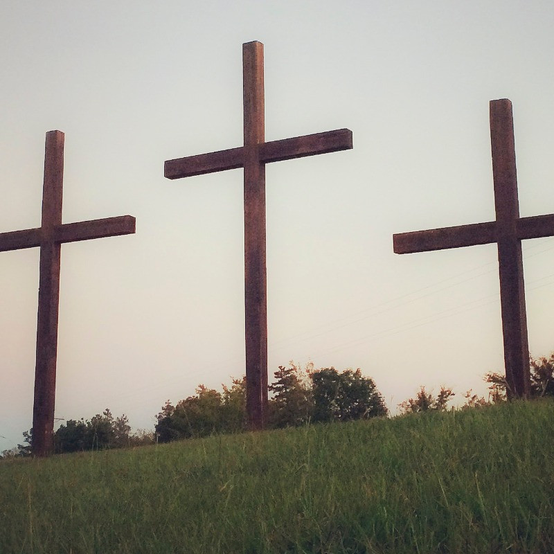 3 crosses on a hill