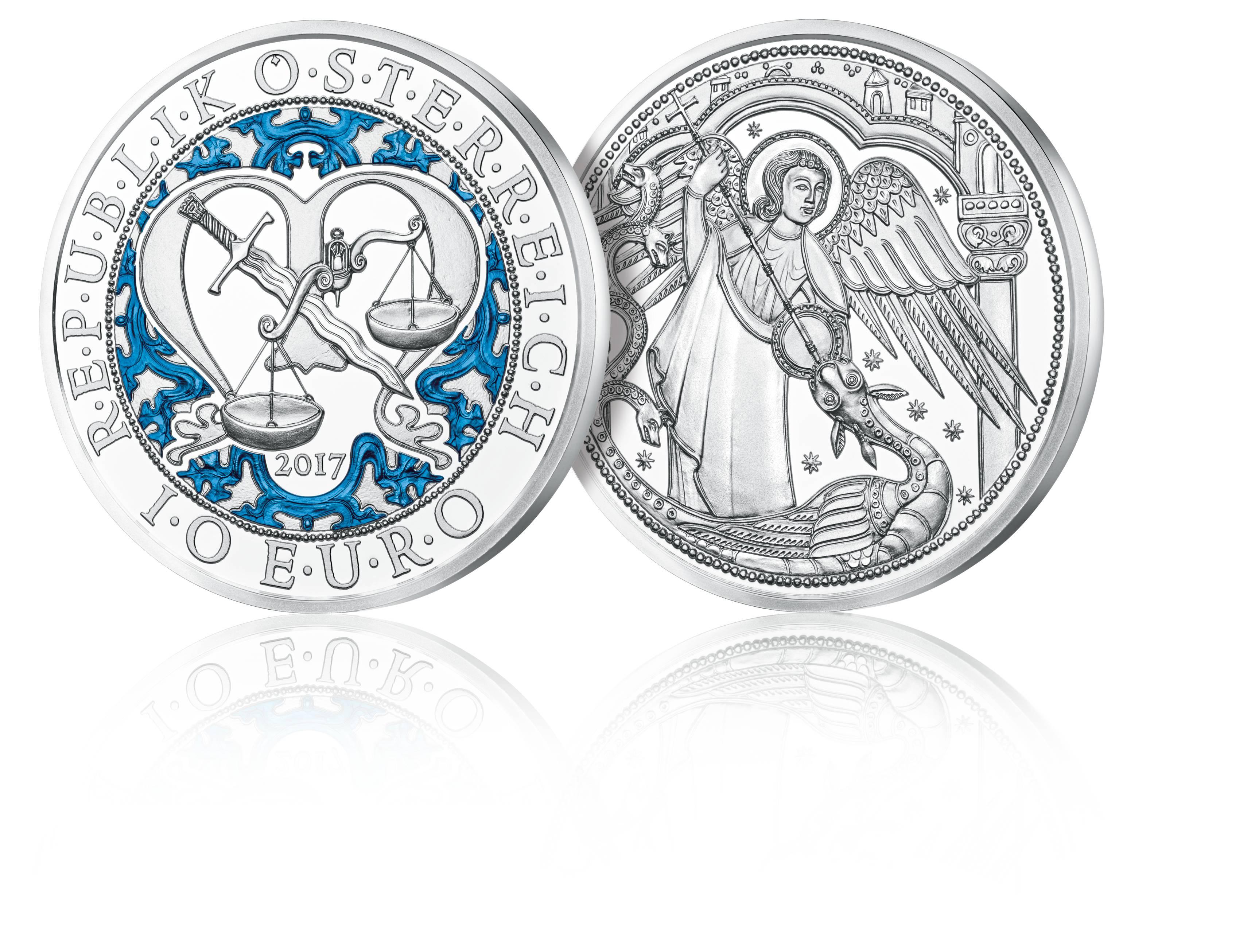 Münze österreich Bringt Engel Auf Farb Münzen Wwwmünzen Online