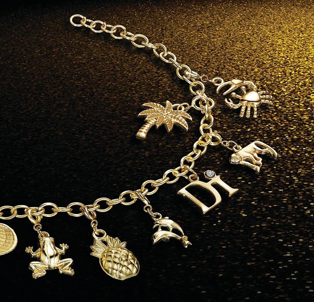 Diamond International Charm Bracelet
