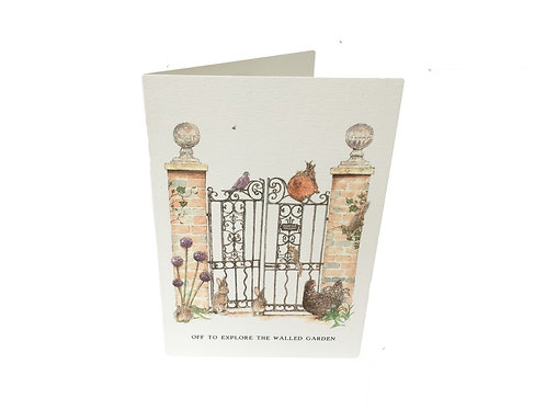 Off To Explore The Walled Garden Card