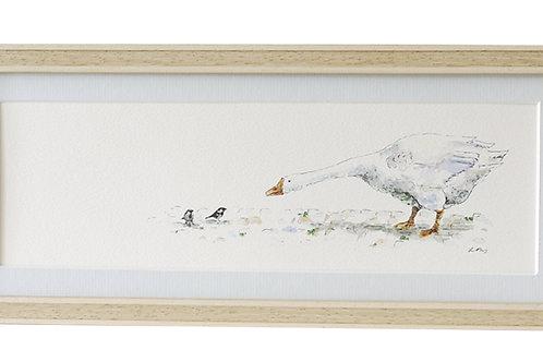 'Yard Chat' Goose Print