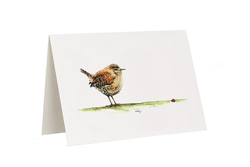 'Good Morning' Wren Card