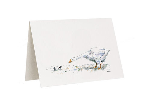 'Yard Chat' Goose Card