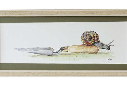 'Onwards' Gardening Snail Print