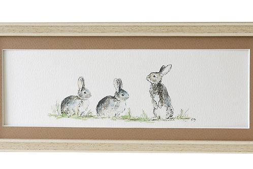 'Now Listen Up' Rabbit Print