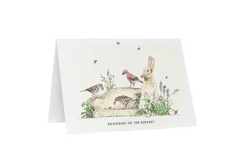 Picnicking On The Rockery Card