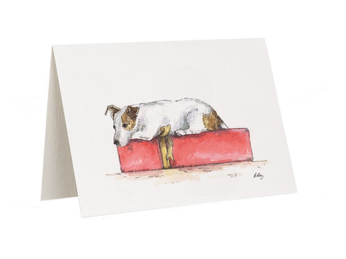 'Waiting And Wondering' Jack Russell Card