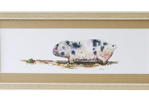 'And There It Was' Pig Print