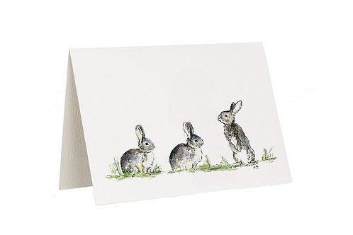 'Now Listen Up' Rabbit Card