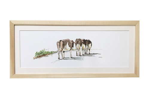 'Home Time' Cow Limited Edition Print