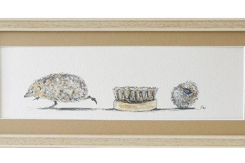 'Bristles' Hedgehog Print