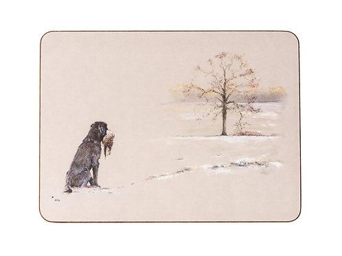 'Ketches Oak' Labrador Tablemat Set