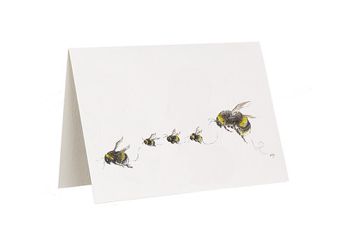 'The Willoughbees' Bee Card