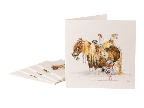 Cold Feet Horse Christmas Cards