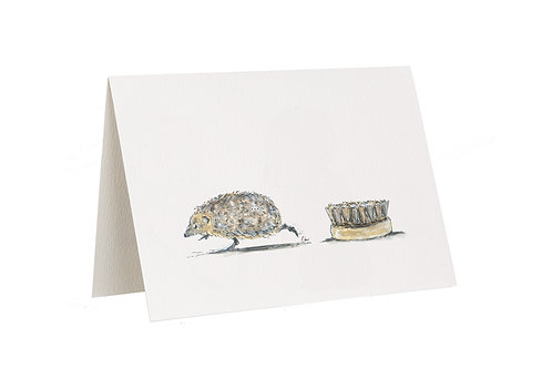 'Bristles' Hedgehog Card