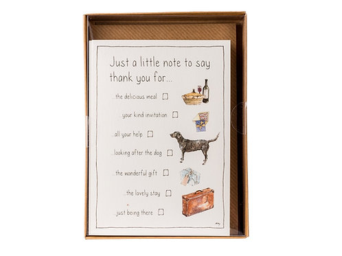 Tick Box Thank You Cards