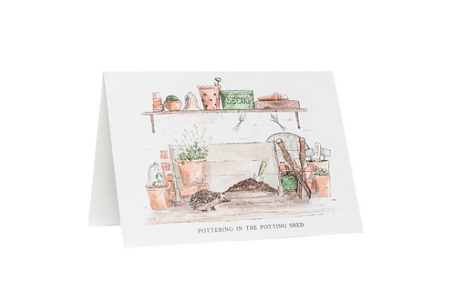 Pottering In The Potting Shed Card