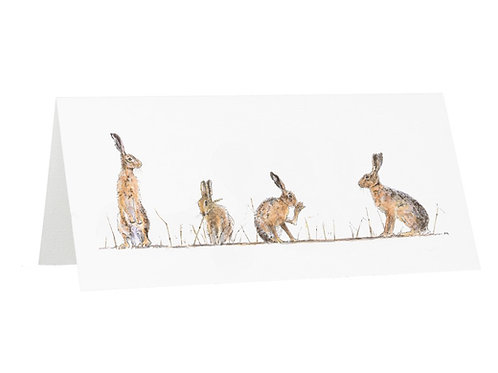 Hare and Stubble Greetings Card