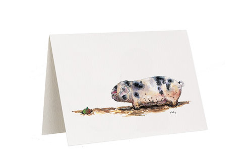 'And There It Was' Pig Card