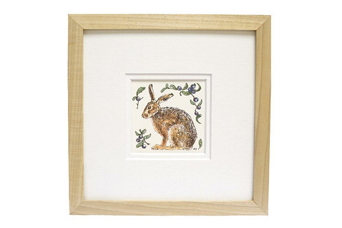 Hare and Sloes Original Illustration