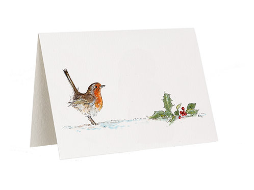 'Merry Christmas' Robin Card